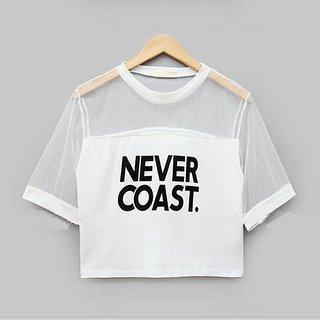 Raabta Fashion White Never Cost Tank Top