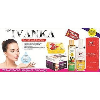 SKIN WHITENING CREAM WITH NATURAL BEAUTY COMBO 4