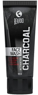 Beardo Activated Charcoal Acne Oil and Pollution Control Face Wash, 100ml