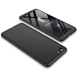 3 in 1 360 Full Body Slim Fit Protection Hybrid Hard Back Cover for Vivo Y71 - Black