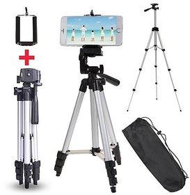 ZEVORA 3110 Portable Foldable Camera Tripod With Mobile Clip Holder Bracket, Fully Flexible Mount Cum Tripod