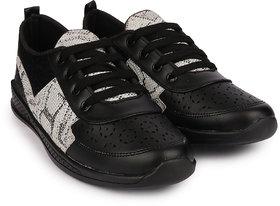 Do Bhai Women's Black Sneakers - 140850772
