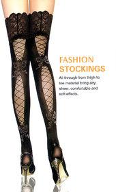 Leg Avenue Criss Cross Net Stockings