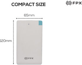 FPX 2500 mAh Card Power Bank White
