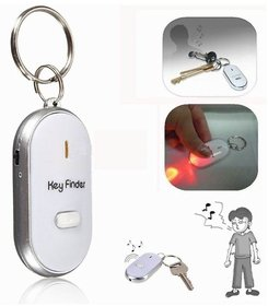 Phonoarena Whistle Key Finder LED Flashing Beeping Find Lost Keys Locator Remote (Assorted Color )