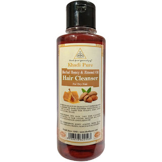Khadi Pure Herbal Honey  Almond Oil Shampoo - 210ml