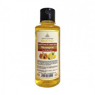 Khadi Pure Herbal Honey  Lemon Juice Shampoo - 210ml