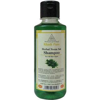 Khadi Pure Herbal Neem Sat Shampoo - 210ml