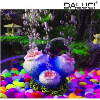Daluci Artificial C Pearl Aquarium Air Bubble Decoration Fish Tank Aerator Scenery Stone Used With