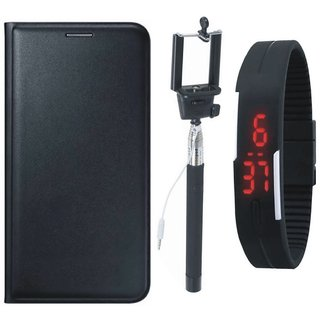 Redmi Note 5 Pro Stylish Leather Flip Cover with Selfie Stick and Digtal Watch by Vivacious