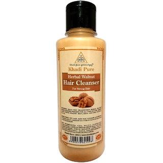 Khadi Pure Herbal Walnut Shampoo - 210ml