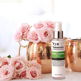 Rose Luxury Face Toner for Detoxifying and Calming (100ml) By Vya Naturals