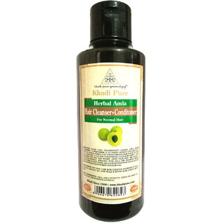 Khadi Pure Herbal Amla Shampoo + Conditioner - 210ml