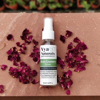 Rose Luxury Face Toner for Detoxifying and Calming (50ml) By Vya Naturals