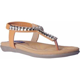MSC Women Synthetic Beige Sandal