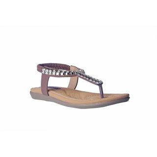 MSC Women Synthetic Brown Sandal