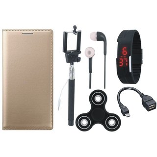 Redmi Note 5 Cover with Spinner, Selfie Stick, Digtal Watch, Earphones and OTG Cable by Vivacious