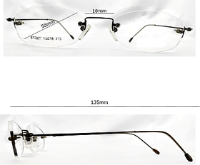 Affable Oval Spectacle Frame Unisex Spectacle Frame A228 Brown