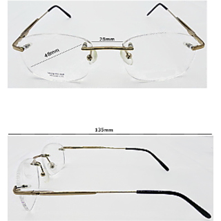 Affable Oval Spectacle Frame Unisex Spectacle Frame A237 gold