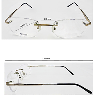 Affable Oval Spectacle Frame Unisex Spectacle Frame A238 gold