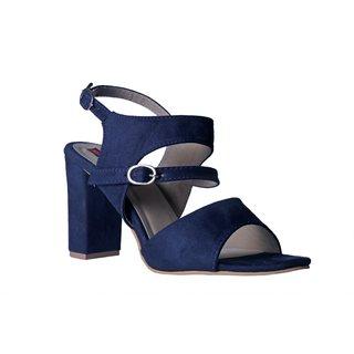MSC Women suede Leather Blue Heels