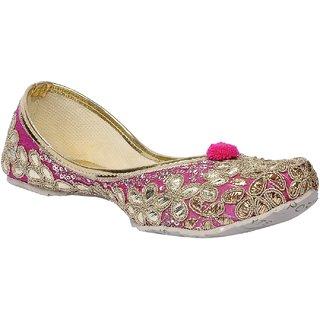 Msc Women'S Pink Ethnic Jutti