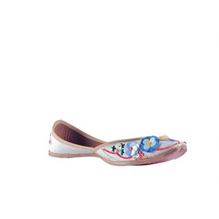 Msc Women'S White Ethnic Jutti