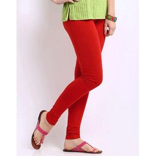 Delhi Bazar Indian Women's Stretch Cotton Plain Leggings Churidar Long Yoga Pant