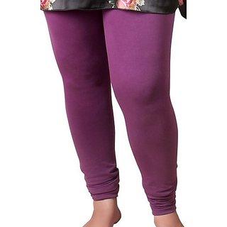 Delhi Bazar Long Cotton Lycra Pants Leggings Churidaar Pants With Elastoc Waist Drawstring