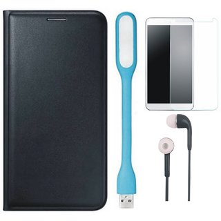 Samsung J7 NXT Stylish Cover with Tempered Glass, Earphones and USB LED Light by Vivacious
