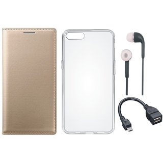 Redmi Y2 Flip Cover with Silicon Back Cover, Earphones and OTG Cable by Vivacious