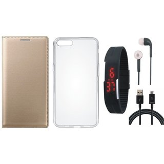 Redmi Note 3 Stylish Cover with Silicon Back Cover, Digital Watch, Earphones and USB Cable