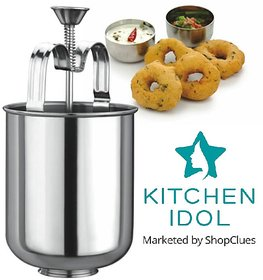 Kitchen Idol Stainless Steel Menduwada Maker Or Wada Maker