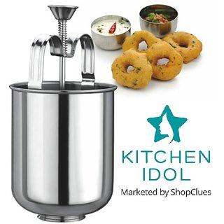 Kitchen Idol Stainless Steel Menduwada Maker Or Wada Maker