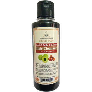 Khadi Pure Herbal Amla  Reetha Shampoo - 210ml