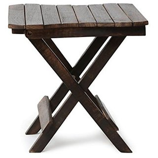 Desi Karigar Wooden Beautiful Design Folding Table For Living Room Size(LxBxH-12x12x12) Inch