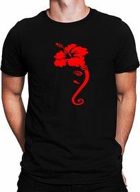 Mens Graphic printed Cotton round neck Black half sleeves Tshirt