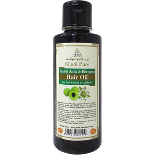Khadi Pure Herbal Amla  Bhringraj Hair Oil - 210ml