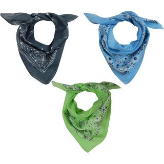 URBAN TRENDZ Cotton printed bandana (Sets of 3) UT3174
