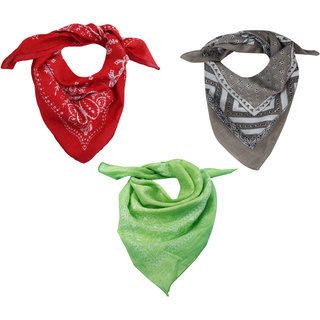 URBAN TRENDZ Cotton printed bandana (Sets of 3) UT3176