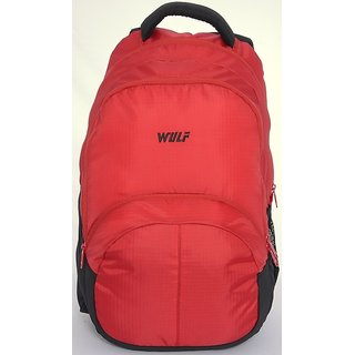 WULF Petric Backpacks Red for Travel, School or Campus Use