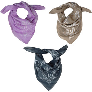 URBAN TRENDZ Cotton printed bandana (Sets of 3) UT3178