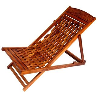 Desi Karigar Folding Garden Easy Chair In Sheesham Wood