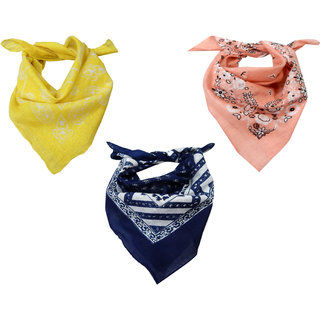 URBAN TRENDZ Cotton printed bandana (Sets of 3) UT3183