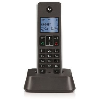 MOTOROLA Cordless Landline Phone It.5.1Xi (Black and Silver)