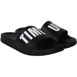 Do Bhai Men's White Slides