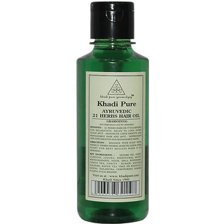 Khadi Pure Herbal Ayurvedic 21 Herbs Hair Oil - 210ml