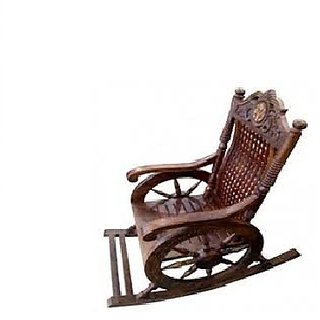 Desi Karigar Hand Carved Rocking Chair Sheesham Wood