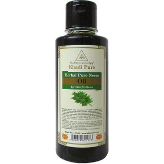 Khadi Pure Herbal Pure Neem Oil - 210ml