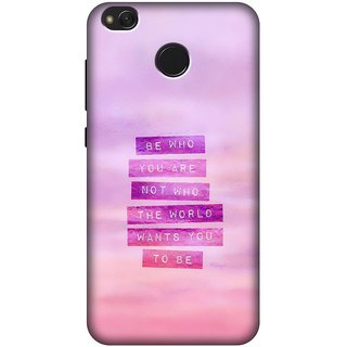 Designer Printed Case/Cover for Xiaomi Redmi 4 / Quotes/Messages/[Hybrid][Slim-fit][Shock Proof]Back Case/Cover for Xiaomi Redmi 4 (Design 2641